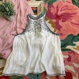 ecote Embroidered Tank Top